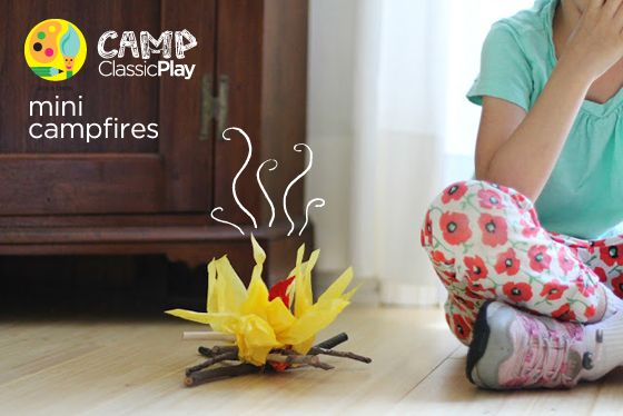Fun way to craft a fire that's good for the environment. Bake some smores, grab a sleeping bag and you have a fun afternoon campfire with the kids. Don't forget to sing and tell ghost stories.