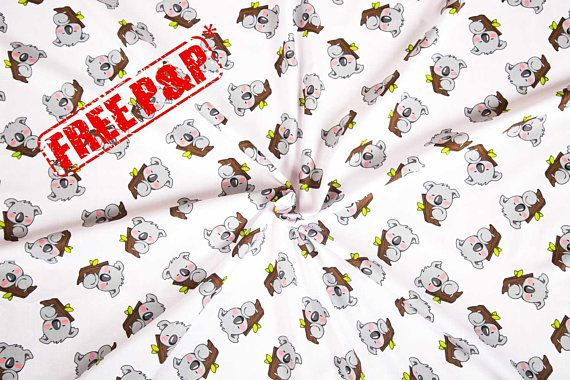 Cotton fabric, baby koala fabric, koala pattern fabric, room ... : quilting supplies wholesale - Adamdwight.com