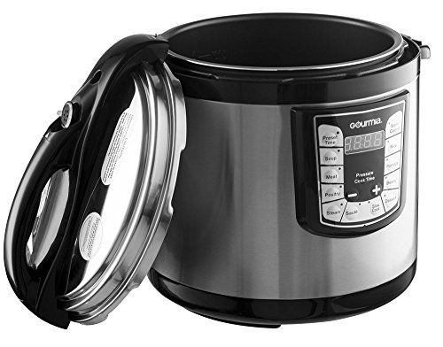 Gourmia GPC1000 Smart Pot Electric Digital Multifunction Pressure Cooker with 13 Programmable Cooking Modes, 10 quart Stainless Steel with Steam Rack, 1400W, Silver Free Recipe Book Included // http://cookersreview.us/product/gourmia-gpc1000-smart-pot-electric-digital-multifunction-pressure-cooker-with-13-programmable-cooking-modes-10-quart-stainless-steel-with-steam-rack-1400w-silver-free-recipe-book-included/  #cooker #pressure #electric