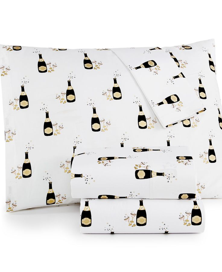 CLOSEOUT! Whim by Martha Stewart Collection Holiday 200-Thread Count Queen Sheet Set - Sheets - Bed & Bath - Macy's