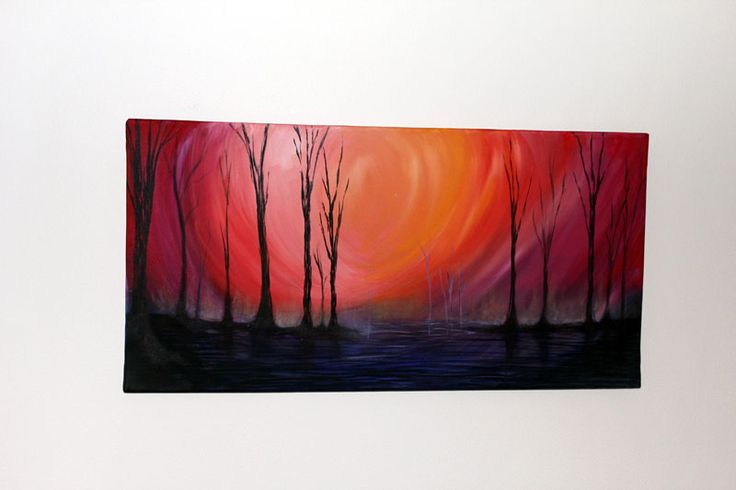 Title:The Aftermath Description:Original Oil on Canvas The Aftermath depicts the eeriness of life after a bushfire in the Aussie wilderness....