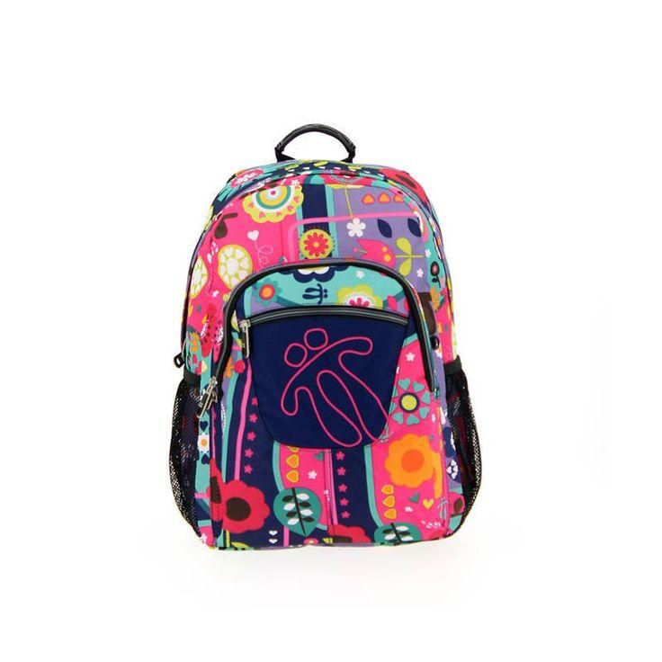Mochila modelo 4vj de la marca totto adaptable, una mochila escolar de gran calidad, Tottto es uno de los mejores fabricantes de mochilas del mercado