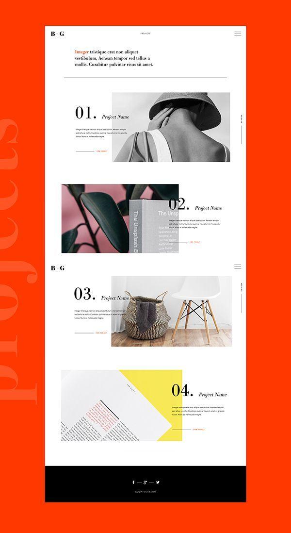 Folio 2 Adobe Muse Template Web Design Tips Minimal Web Design Website Design Layout