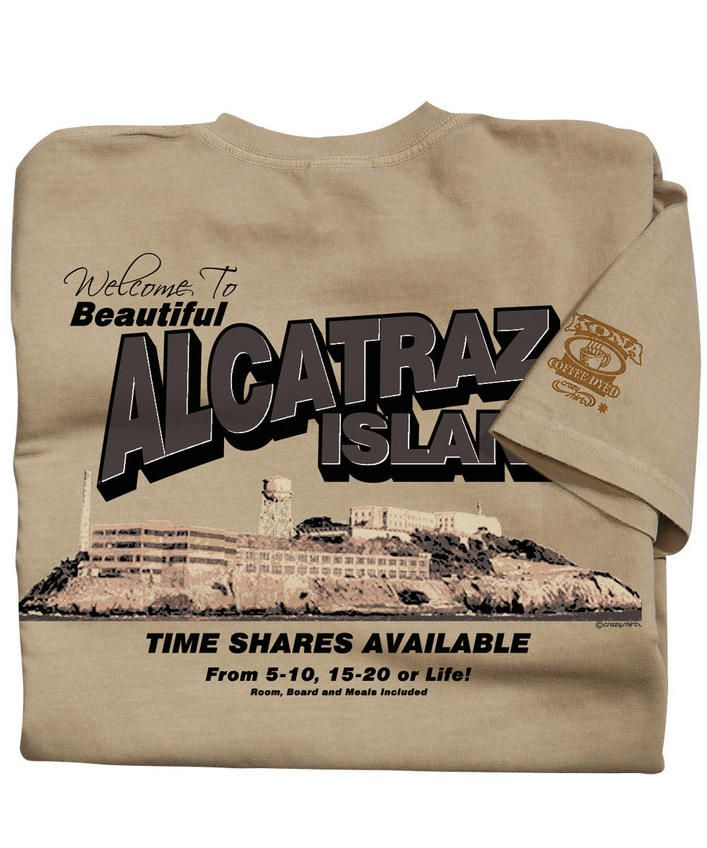 Alcatraz Time Shares - Kona Coffee-Dyed Crew Neck T-Shirt