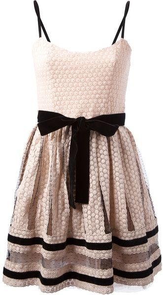 Red Valentino Pink Bow Dress