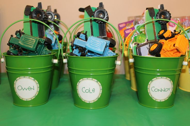 tractor birthday party ideas.  These favors depend on whether or not we get many kiddo guests.