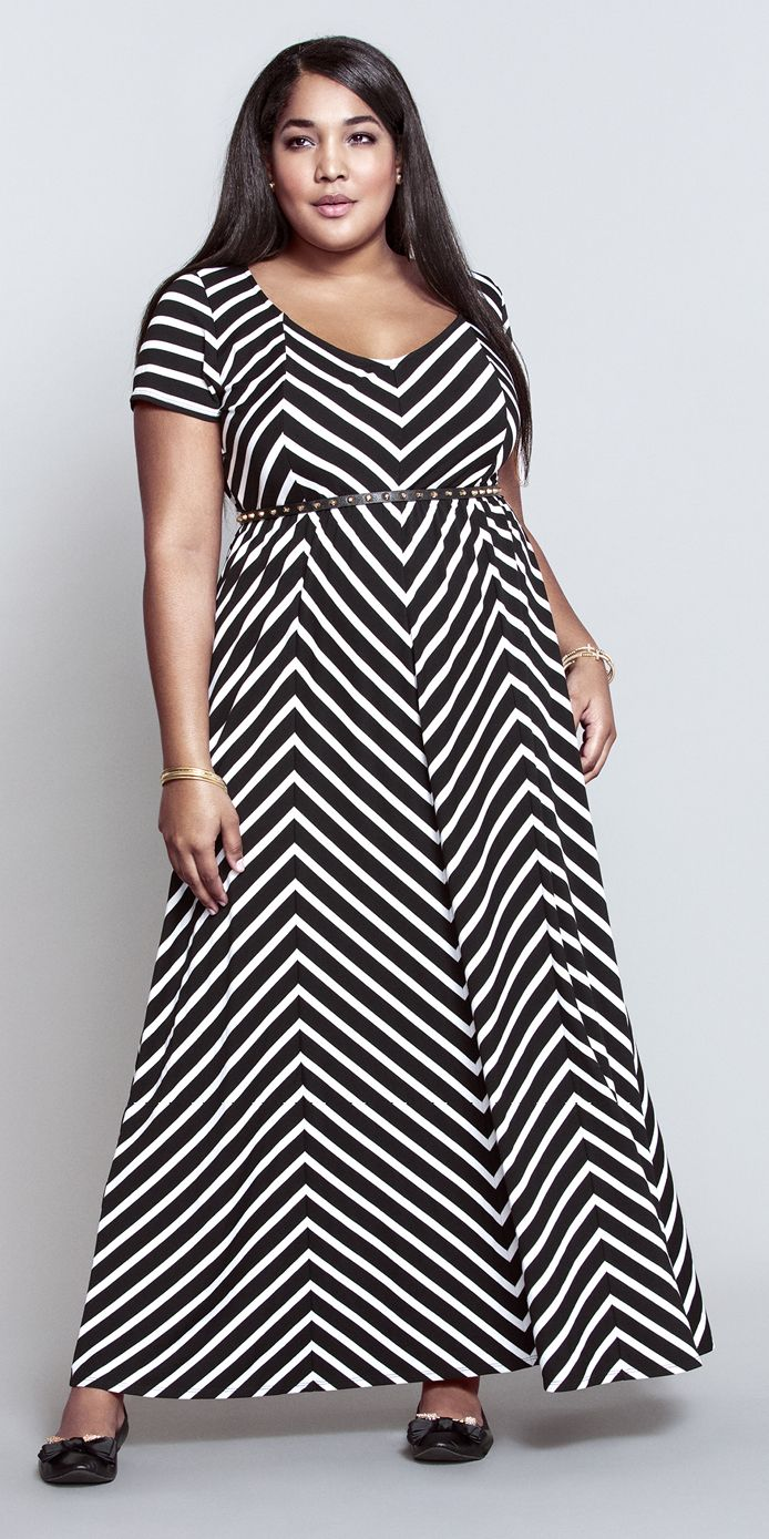 Dress size 24 torrid dress 24 torrid black and white draped v neck - This Mitered Stripe Maxi Dress Is A Total Must For Spring Shopbyoutfit