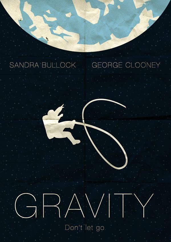 Gravity (2013) ~ Minimal Movie Poster by Omer Aldemir #amusementphile