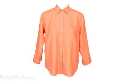 LAUREN RALPH LAUREN Linen Button-Down Shirt Size L at http://stylemaiden.com