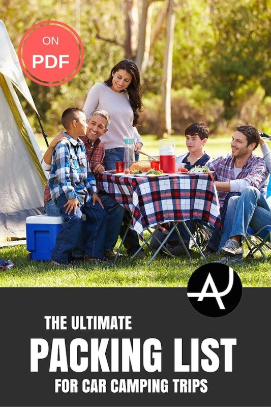 Prepare for your next family camping trip with this comprehensive car camping checklist. It also includes a downloadable PDF camping checklist.