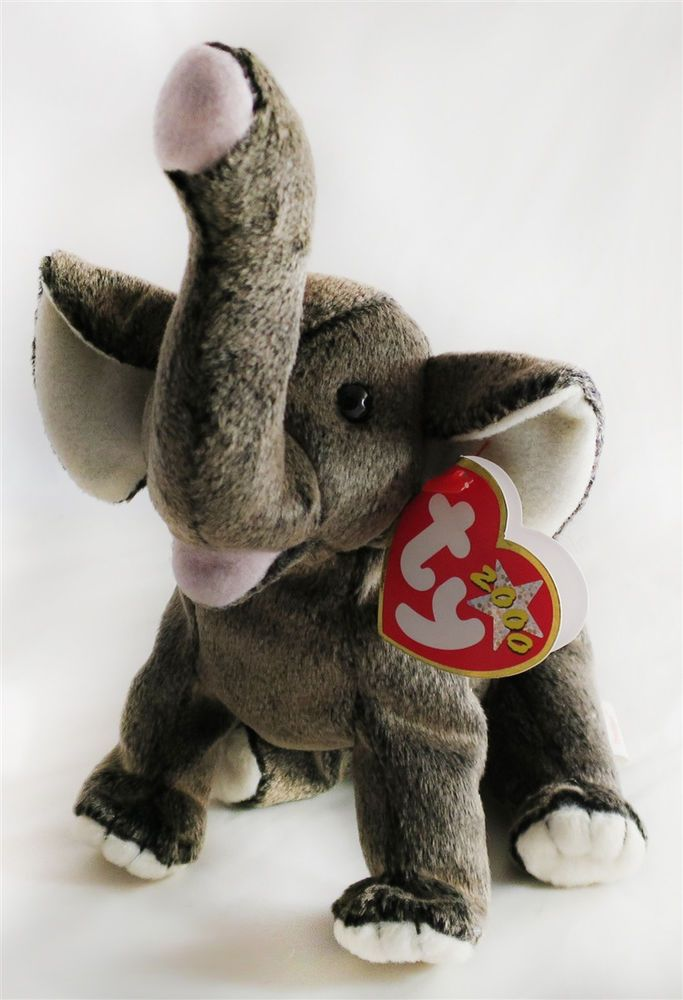 RARE! TY Beanie Babies Trumpet The Elephant - MWMTs! Retired!  Ty ... aaf44da1736