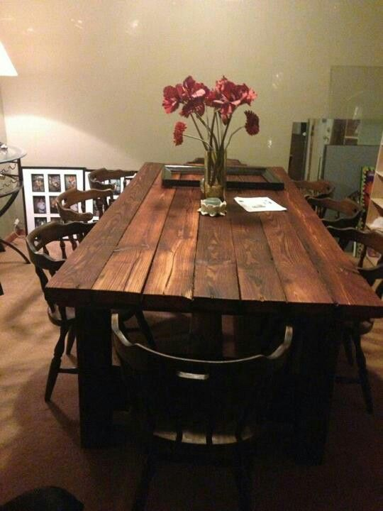 My dinning room table I built .