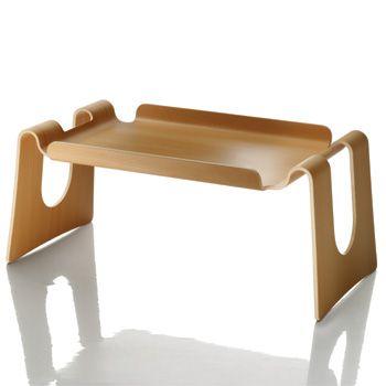Cappuccino Servierbrett / Niedriger Tisch aus Buchenschichtholz - Magis - Galli & Perico Betttablett