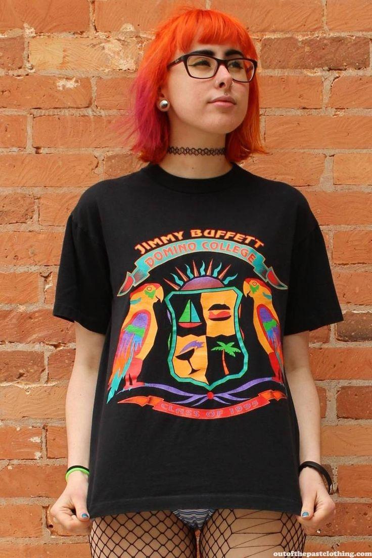 Jimmy Buffett Domino College Class of 1995 Original Vintage Concert T-Shirt