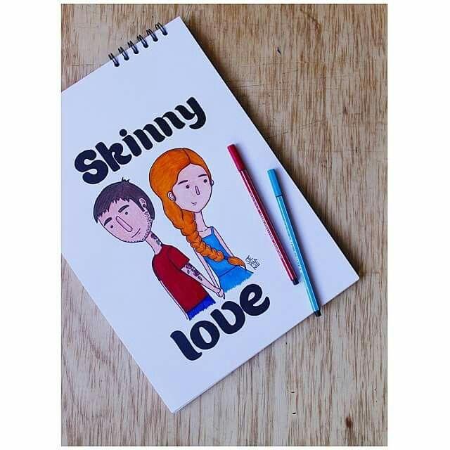 Skinny love #love #couple #sketch #analogo #illustration #steillustration