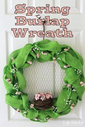 Spring Challenge: DIY Burlap Wreath