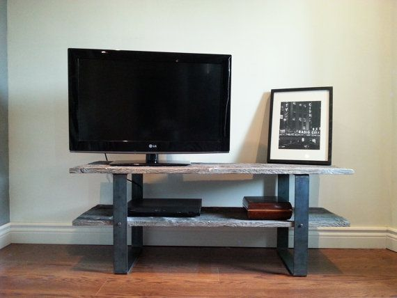 Old Barn Wood Tv Console / Media Stand      Features:    Made from reclaimed traditional barn wood  2 shelf Beautiful unfinished grey colour