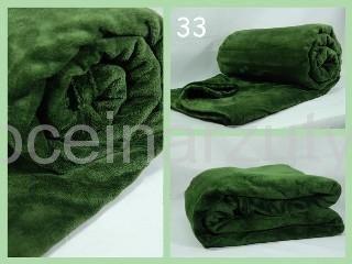 Koce z  mikrofibry 200x220 elway koloru butelkowej zieleni