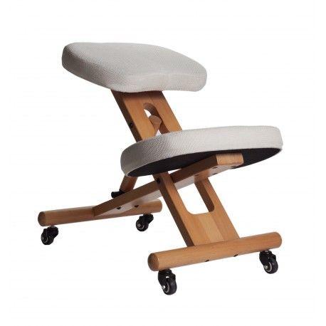 Ce siège ergonomique assis genoux permet de réduire le poids de la partir haute du corps sur le bassin en répartissant le poids sur les genoux. Ce tabouret offre alors une bonne position d'assise avec le dos bien droit.