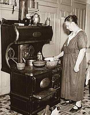 Captivating I Imagine My Grest Grandma Leila Mae Teaching Mon To Cook In A Stove Like  This. ♥ This Photograph Was Taken In And Shows A Woman Cooking Over An Old  Wood ...