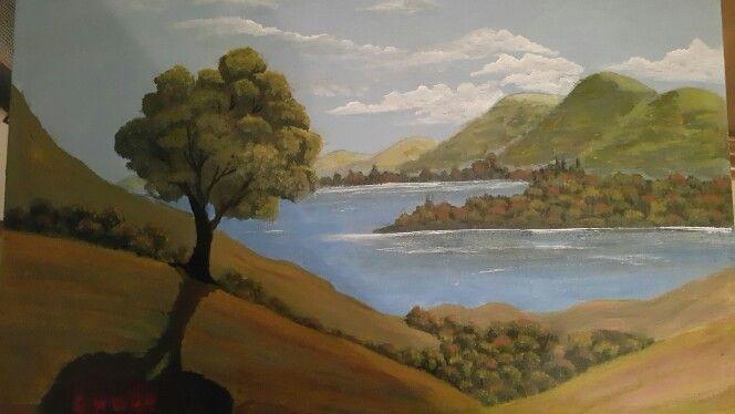 Landskape akrilik painting 07/11/2015 #painting #art