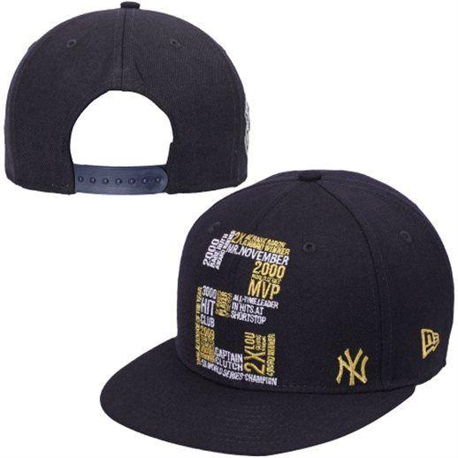 049b907b919 New Era Derek Jeter New York Yankees Youth Navy Blue Graffiti 2 9FIFTY  Snapback Adjustable Hat