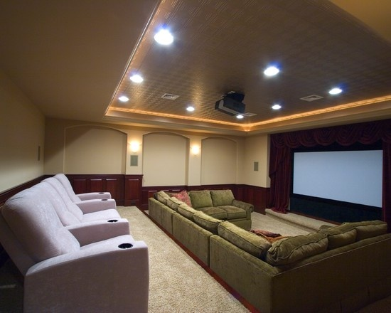30 best images about basement home theater ideas on for Home theater seating design ideas