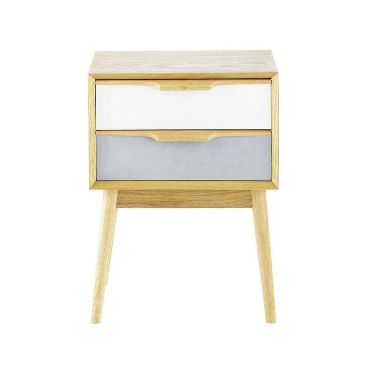 Table de chevet vintage 2 tiroirs | Maisons du Monde