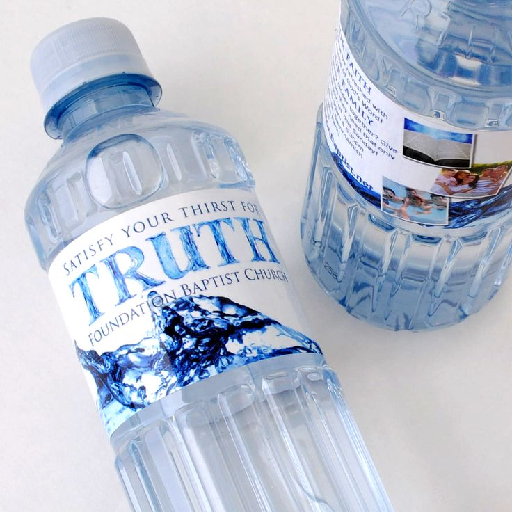 mineral water label template - custom bottled water for foundation baptist church