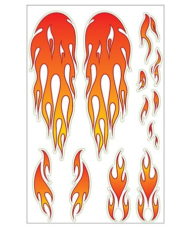 Take A Look At This Flames Bike Sticker Pack By Wishbone