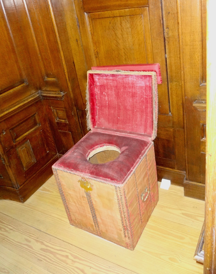 Here we have a 'close stool' at Hampton Court Palace. Groom of the Stool was a high Court position Henry VIII bestowed upon a favored and close friend. The duties of a Groom of the Stool were to empty and clean the close stool, as well as cleaning and drying the Royal derrière. The best known of Henry's Grooms of the Stool was Sir Henry Norris, who was convicted of adultery with Queen Anne Boleyn.