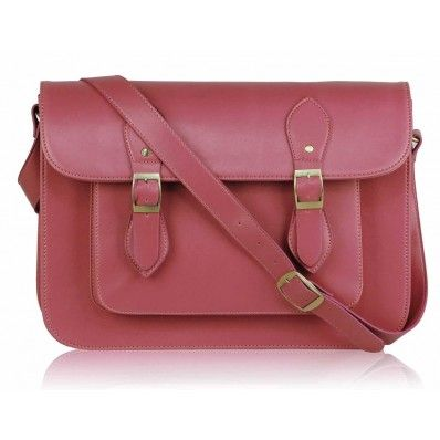 This should make January a bit brighter - Simple Pink Satchel from bagthebag.com