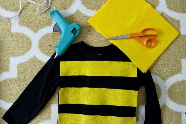 making a bee costume