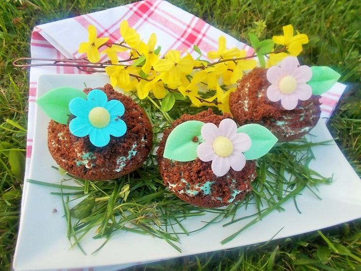 Moje Kuchenne Hobby: Muffinki z niebieskim kremem