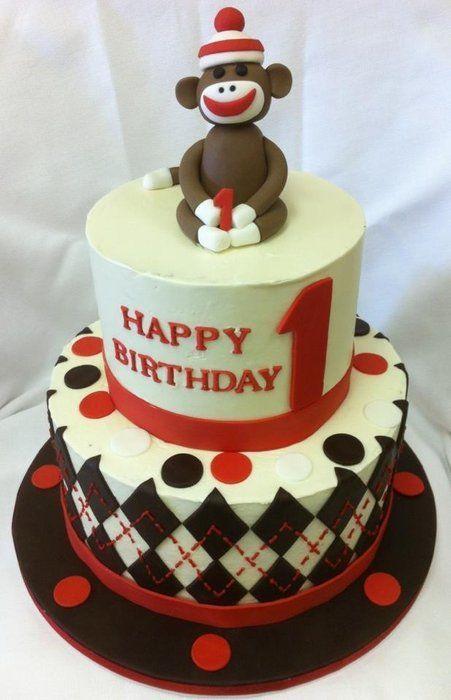Sock Monkey Cake  CakesDecor cakepins.com