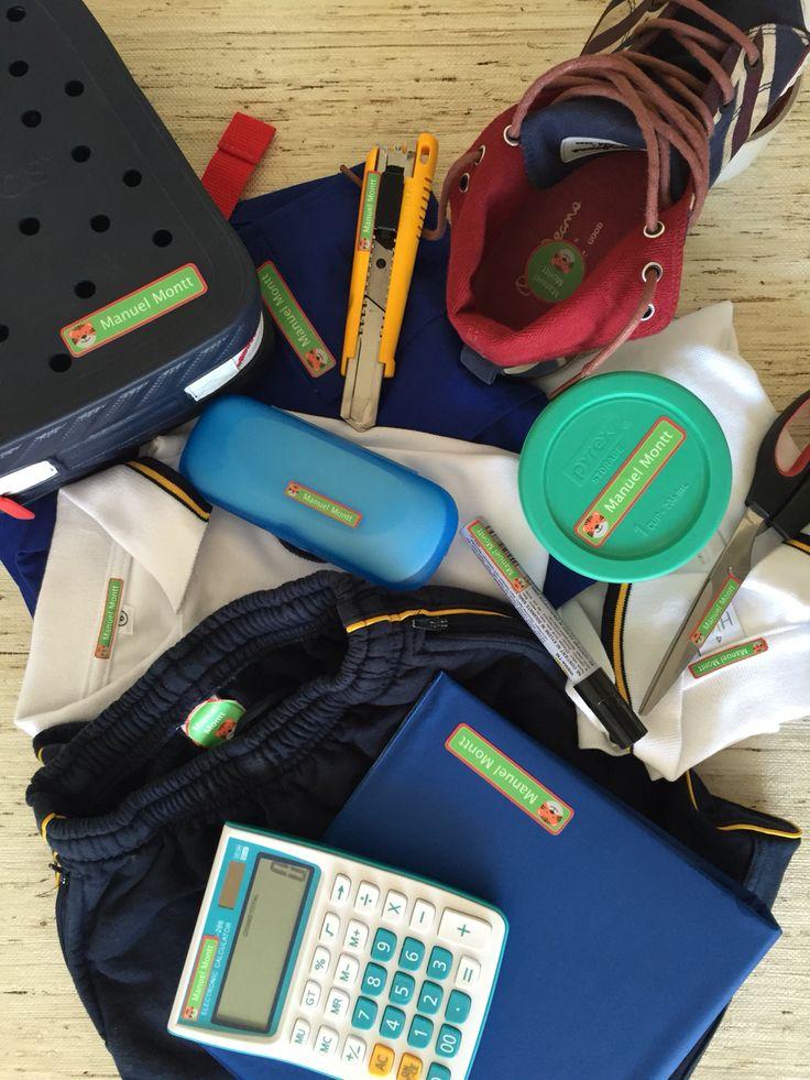 Todo marcado para el colegio. Etiquetas que aseguran que tus cosas vuelvan a ti.