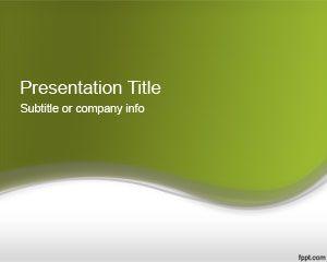 Plantilla PowerPoint 2012 de Color Verde Abstracto