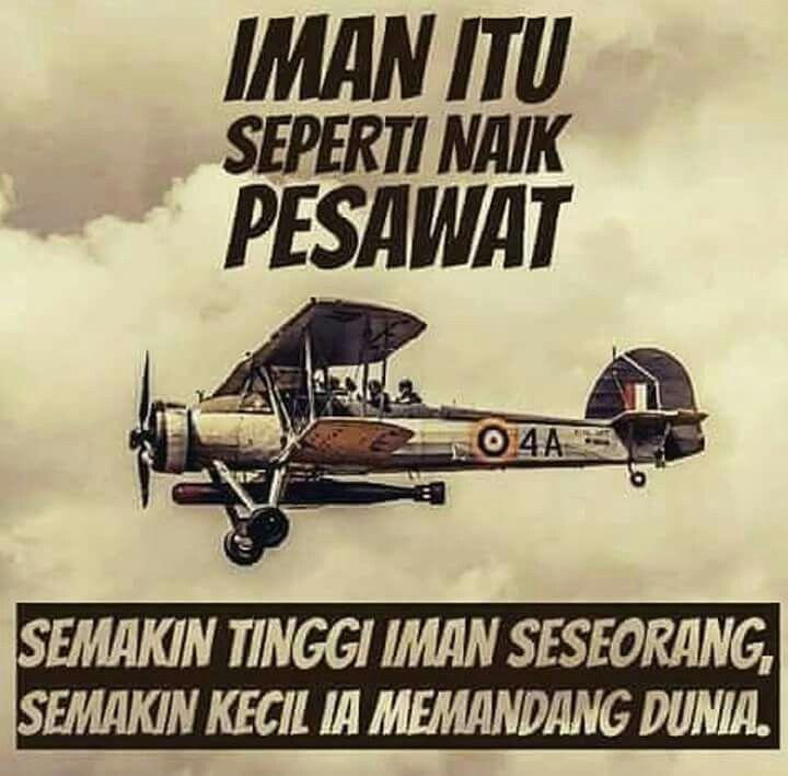 Naik pesawat dengan Iman