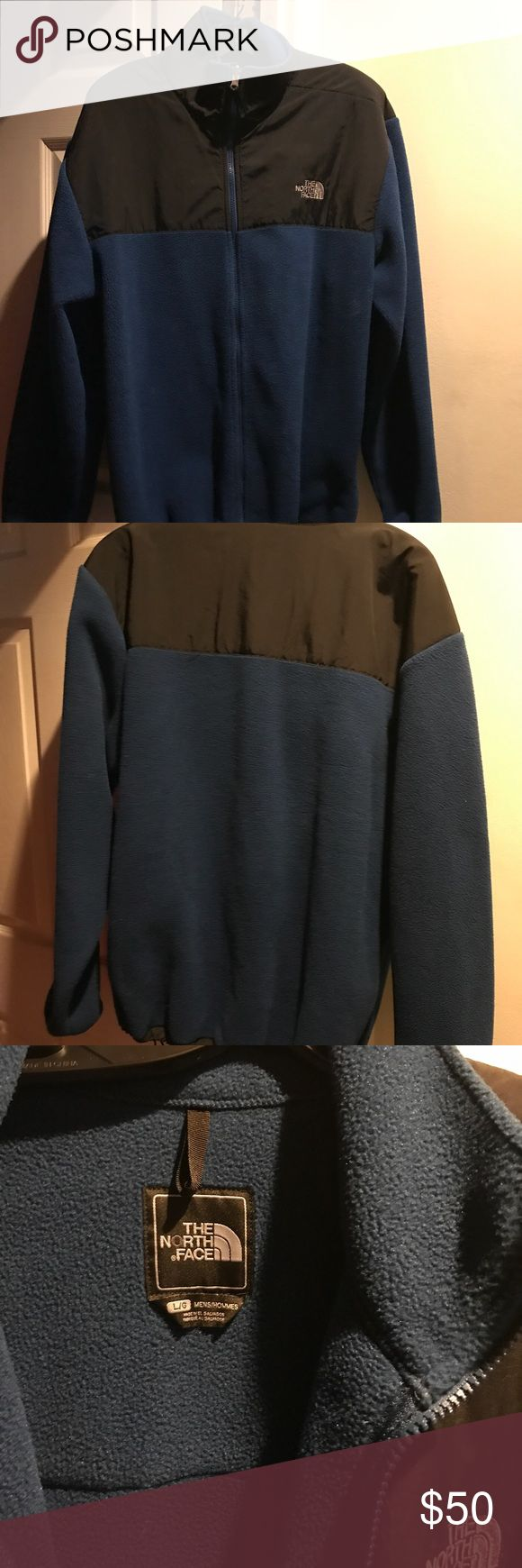 Authentic Blue/Black North Face L/G Mens Jacket Authentic blue / Black North Face Hommes L/G  men's jacket. In good condition. North Face Jackets & Coats