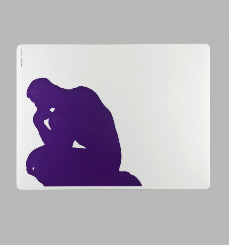 #Placemat The #Thinker, 9.90 € / © Musée Rodin, photo: Jacques Gavard / http://boutique.musee-rodin.fr/en/home-accessories/265-placemat-the-thinker.html
