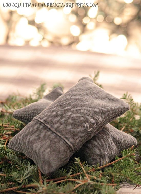 Put your Christmas tree trimmings to good use by stuffing them inside scraps of fabric! These DIY sachets are great holiday fresheners for drawers and closets. Get the tutorial at Cook Quilt Make and Bake.    - CountryLiving.com