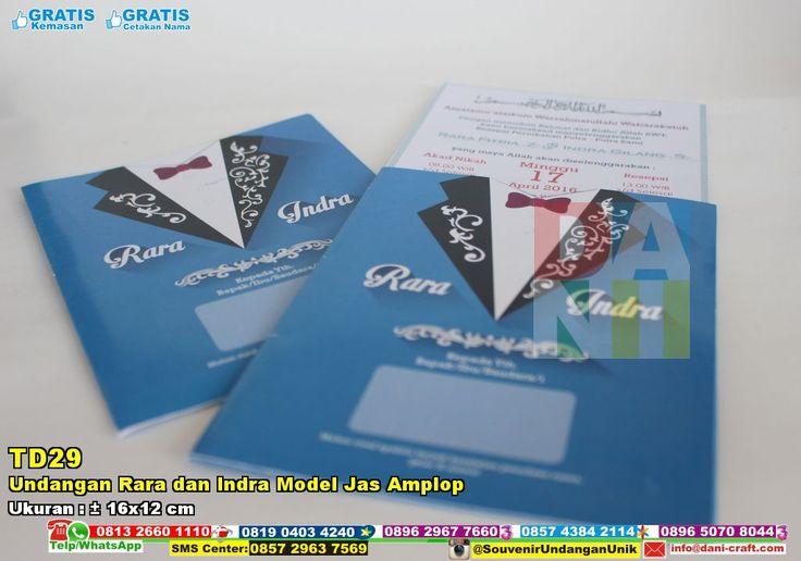 Undangan Rara Dan Indra Model Jas Amplop | Souvenir PernikahanUndangan Rara Dan Indra Model Jas Amplop 0896 2967 7660 ( WA/TELP ) PIN BBM : 7C56 6DEC #UndanganRara #HargaRara #souvenirPernikahan