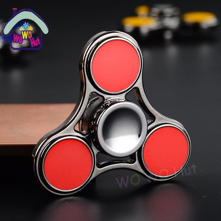 2017 New EDC Tri-Spinner Fidget Toys Pattern Hand Spinner Metal Fidget Spinner and ADHD Adults Children Educational Toys Hobbies