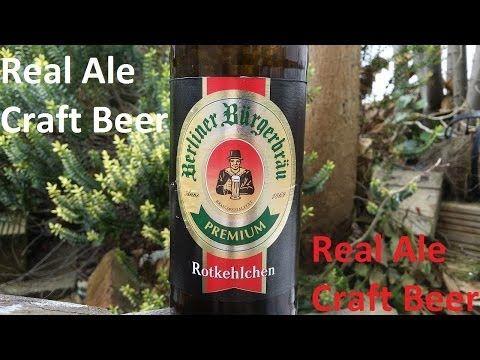 Real Ale Craft Beer/Beers of Europe |  Berliner Bürgerbräu Premium Rotkehlchen By Berliner Kindl Schultheiss Brauerei