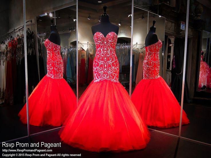 Be the queen at the ball in this fabulous red mermaid gown with ...