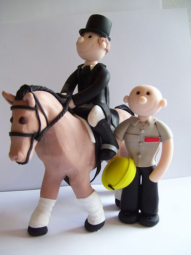 Civil ceremony toppers for paralympic gold medallist Lee Pearson. I do like making horses :-)