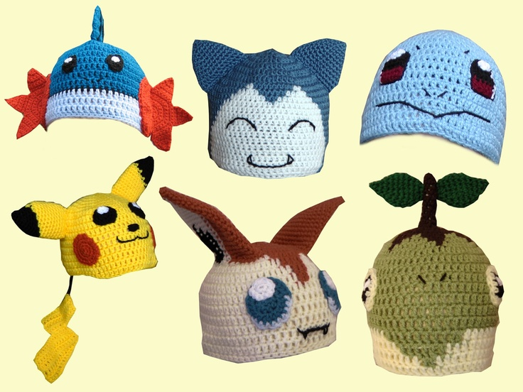 Crochet Patterns Pokemon Characters : Gallery For > Pokemon Hats Crochet