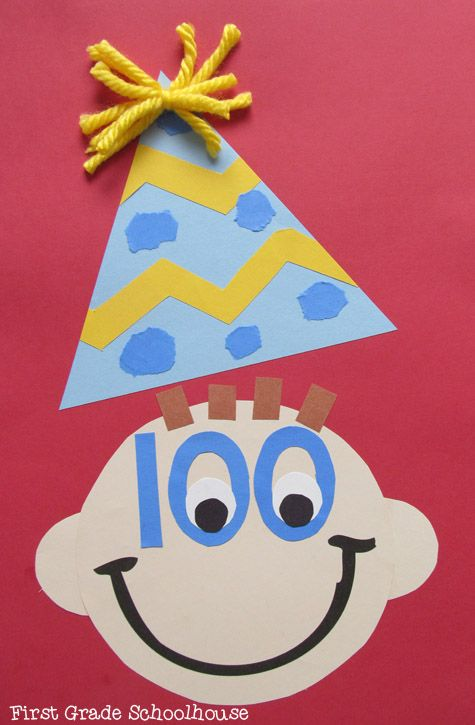 100th Day of School craft and booklet.