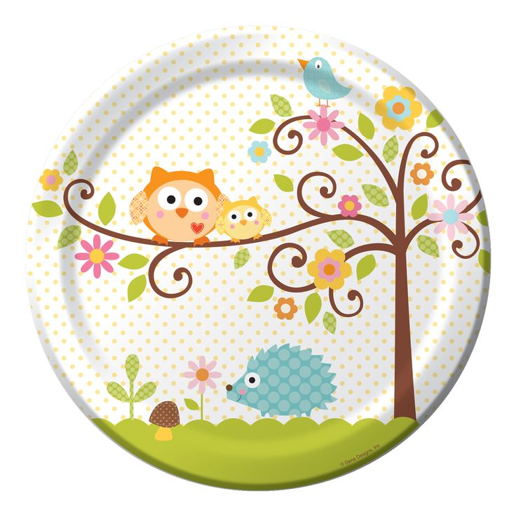Owl Baby Shower Plates