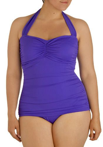 I love these kinda swimsuits. You can even pull it down and make it a short skirt.